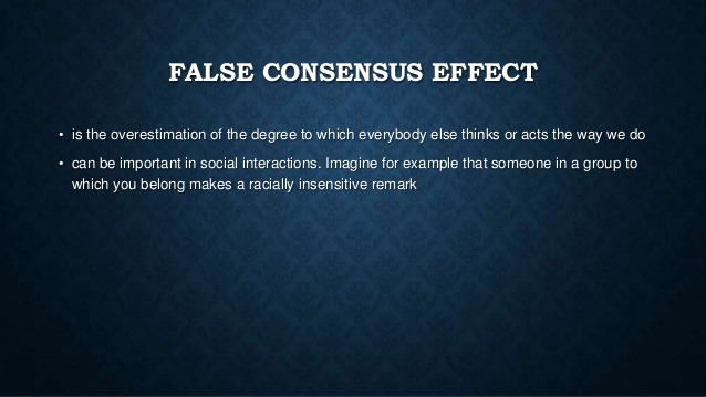 Ross' False Consensus Effect Study